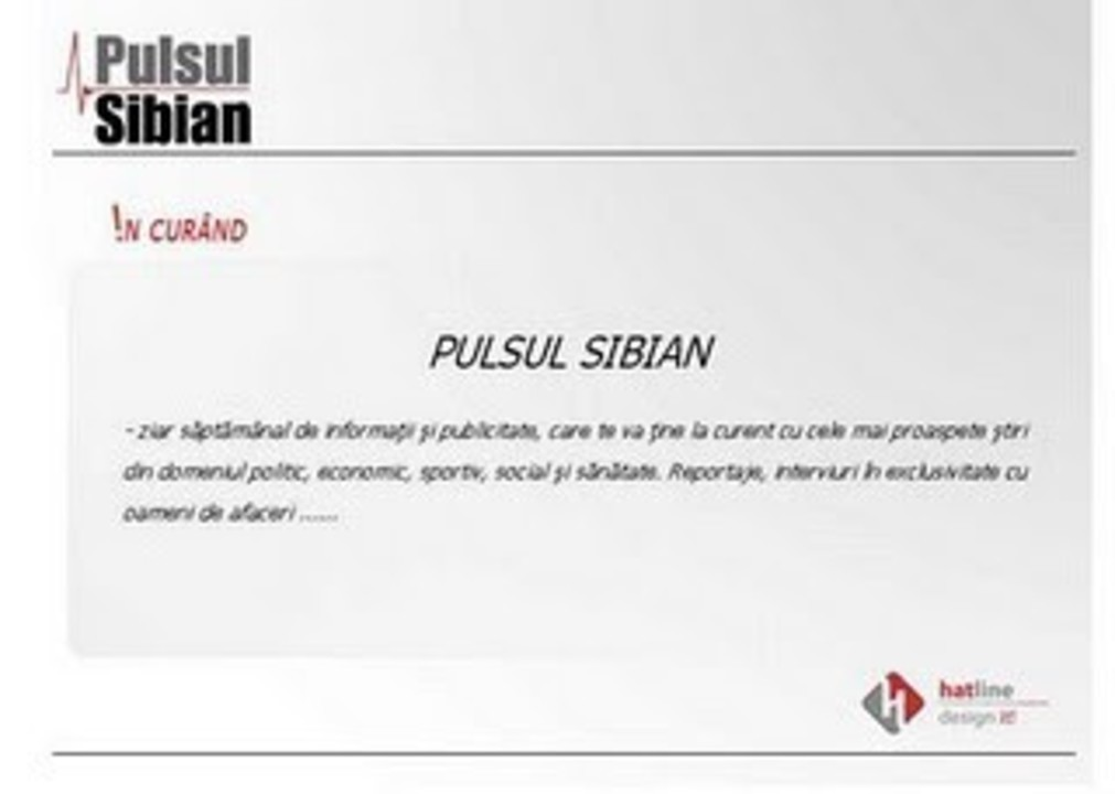 Pulsul Sibian in curand online